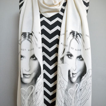 Britney Spears (Not Alone) Screen Print Unisex Knit Scarf