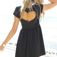 Black Heart Back Dress | SABO SKIRT
