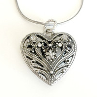 Victorian Heart Pomander Necklace
