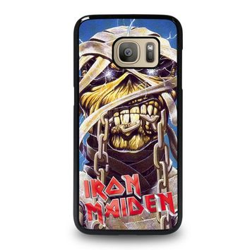 iron maiden samsung galaxy s7 case cover  number 1