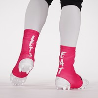 Let's Eat Pink Spats / Cleat Covers