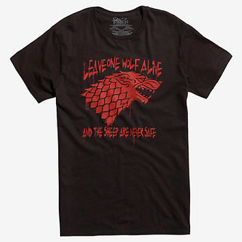 Game Of Thrones Wolf Quote T-Shirt