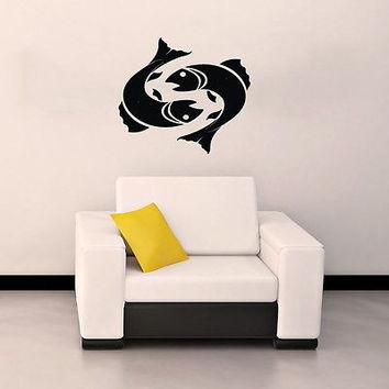 WALL VINYL STICKER DECAL ART DESIGN Pisces Horoscope Star Sign Zodiac SV2327