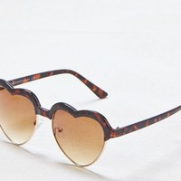 AEO Women's Tortoise Shell Heart Sunglasses (Torte)