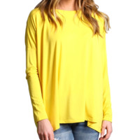 Buttercup Piko Long Sleeve Top
