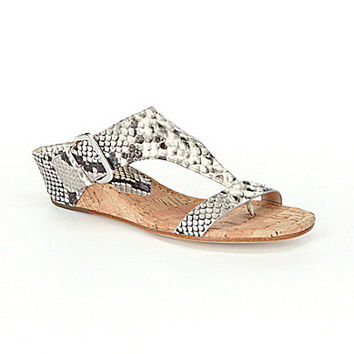 Donald J Pliner Doli2 Snake Wedge Sandals - Ash