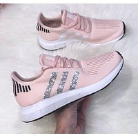 shosouvenir Adidas Tublar Shadow Knit   individuality Sequins Fashion Lightweight woven breathable casual jogging shoes