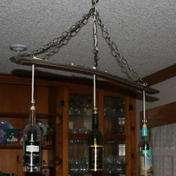 Three Wine Bottle Pendant Light