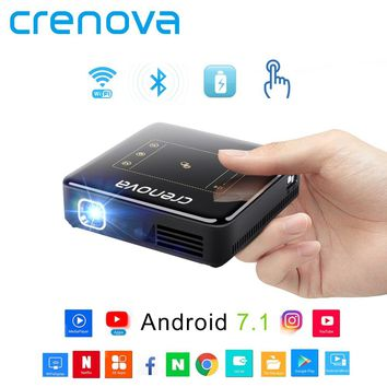 DLP Projector - Full HD 4K With Android 7.1 Bluetooth 4.0 Mini Projector For Home Theater