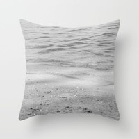 Seashore Textures Throw Pillow by ARTbyJWP