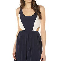 BB Dakota The Ripley Colorblock Cutout Dress in Navy and White : Karmaloop.com - Global Concrete Culture