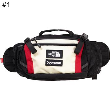 Supreme Joint Name The North Face Tide brand men and women colorblock pockets Messenger bag #1