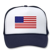 American Flag Trucker Hat from Zazzle.com
