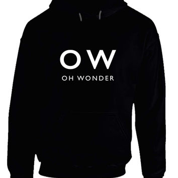Oh Wonder Title Black And White Hoodie