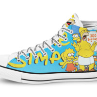 The Simpsons Limited Edition Hi-Top Black Unisex Trainers