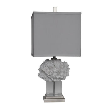 Crestview Collection Coral Palace White Table Lamp