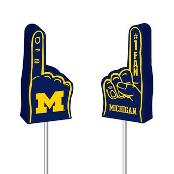 Michigan Wolverines Antenna Topper - Foam Finger