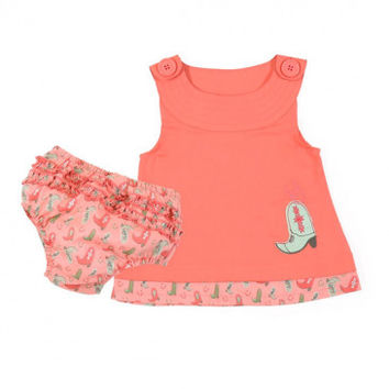Wrangler Coral Cowgirl Dress - Infant & Toddler - Kids'