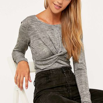 Minkpink Forbidden Live Twist Front Crop Top - Urban Outfitters