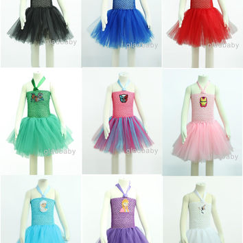 superhero tutu dress girl - Batgirl superman spiderman tutu - Halloween dress - Birthday costume tutu skirt costume Birthday outfit 2T-8T