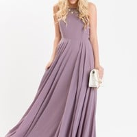 Emma Lavender Flowy Maxi Dress