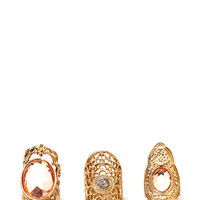 Bold Bejeweled Ring Set