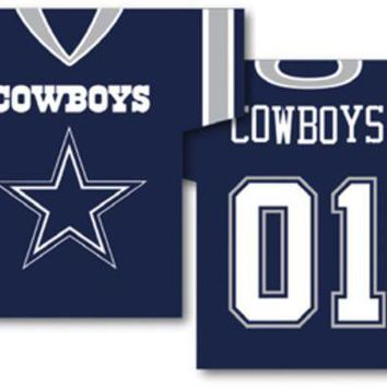 DCCKG8Q NFL Dallas Cowboys Jersey Banner 34' x 30' - 2-Sided