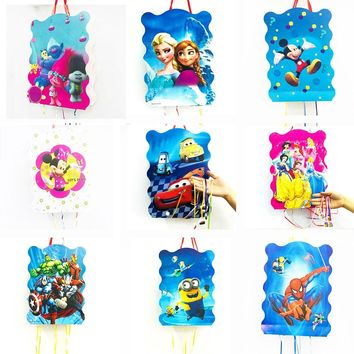 1pcs Avenger Minions pinata Frozen children birthday party favours funny games folded pinata baby happy birthday party supplies