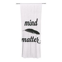 "Skye Zambrana ""Mind Over Matter II"" Black White Decorative Sheer Curtain"