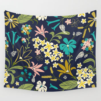 Bella Midnight Wall Tapestry by Heather Dutton