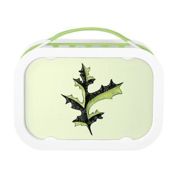 Decorative Oak Leaf With Tattoos Lunch Box