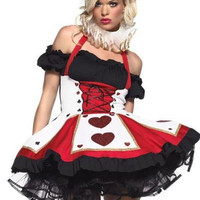 Ruffled and Tiered Dress Queen of Hearts Costume