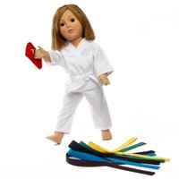 "Fits 18"" American Girl Doll Karate Outfit - 18 Inch Doll Clothes/clothing Includes 18"" Accessories. All Color Belts Included."