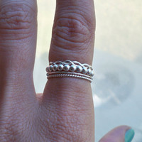 Set of 4 Sterling Silver Stacking Rings. Select any size