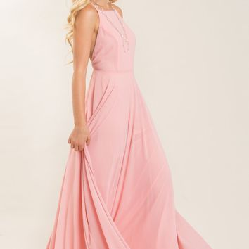 Emma Pink Flowy Maxi Dress