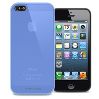 KAYSCASE Slim Soft Gel Cover Case for Apple new iPhone 5 / iPhone 5S, Retail Packaging with Screen Protector (Blue)