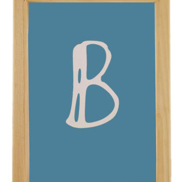 Letter B Silk Screen Print Frame,Hand Silk Screen Print Frame with Free Squeegee,Hand Screen Printing Supply,Printing Supplies -Choose size