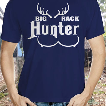 Hunter Tshirt, Big Rack, Deer, Reception, Jungle, Hobby, Gun, Anime, Animal.