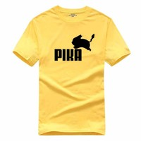 T Shirt Anime Pika Men T-Shirts Pikachu Boy T Shirt Cotton Short Sleeve Boy Tees Tops