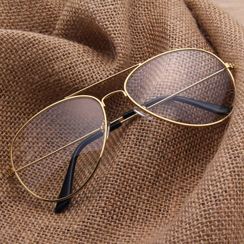 Aviator Clear Glasses Spectacle Frame Sunglasses (Free Shipping 12-20 days)