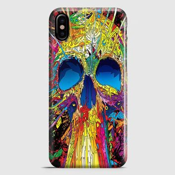 Colorful Skull iPhone X Case