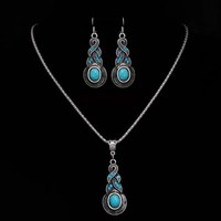Bohemian Style Necklace and Earring Jewelry Set