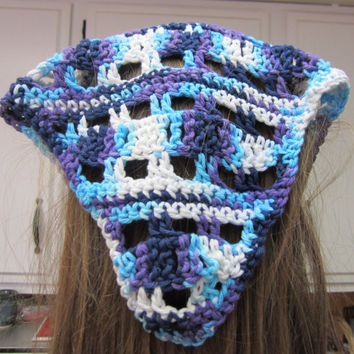 Crochet Hair Kerchief/Bandana/Head Scarf in Various Colors