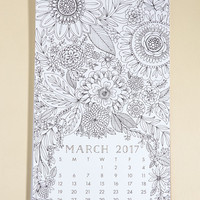 Picturesque Planning 2017 Coloring Calendar