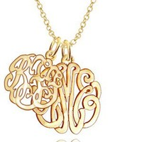 10K Gold Personalized Mother Child Monogram (Choose Your Initials)