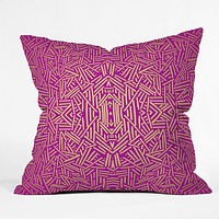 Jacqueline Maldonado Radiate Raspberry Gold Throw Pillow