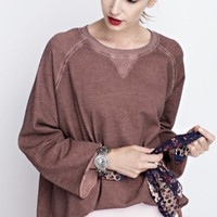 Oversized Sleeve Pullover Top