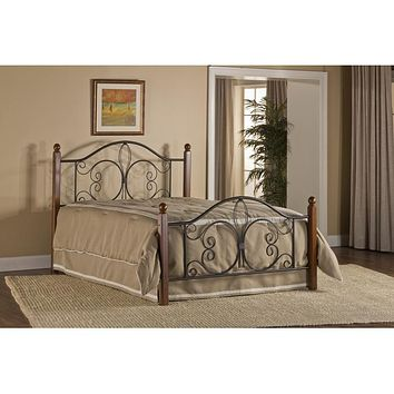 1422-milwaukee-wood-post-bed-queen-bed-frame-included