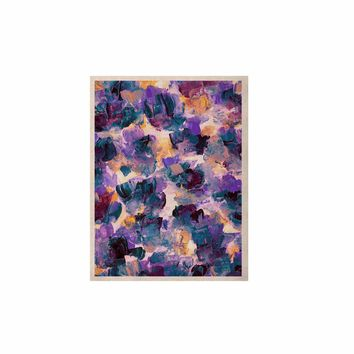 """Ebi Emporium """"Floral Spray 2"""" Green Teal Floral Abstract Painting Mixed Media KESS Naturals Canvas (Frame not Included)"""