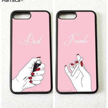 smoking the best friends forever BFF soft mobile phone cases for iPhone 5s se 6 6s plus 7 7plus 8 8plus X XR XS MAX cover case